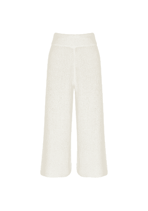 Rag & Bone Sunny White Wide-leg Knitted Trousers