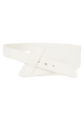 Iro Samourai Leather Belt Woman White Size 70