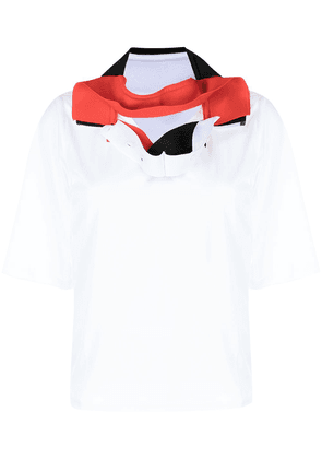 Y/Project hybrid-collar polo shirt - White