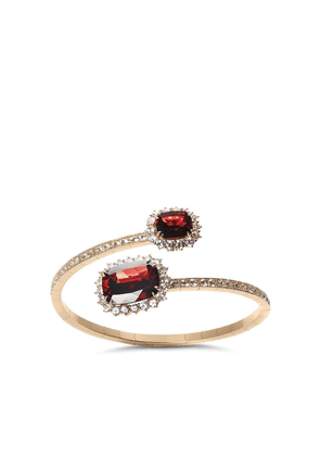 Dolce & Gabbana 18kt yellow gold Heritage rodolith garnet and colourless sapphire cuff