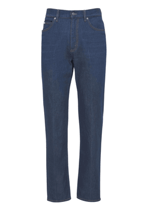 Washed Cotton Twill Denim Jeans