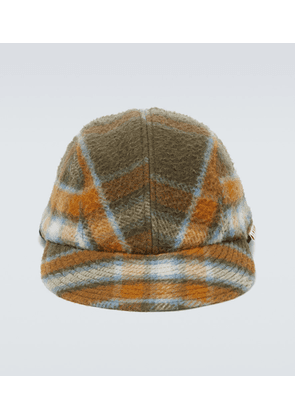 Checked wool hat