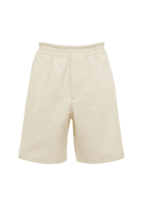 Knotted Cotton Twill Shorts