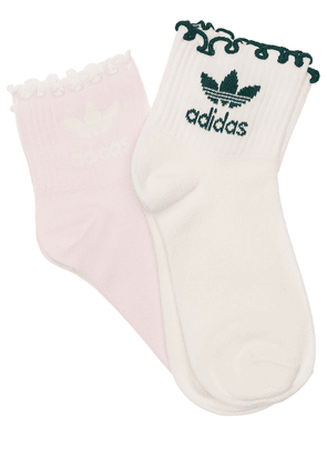 Pack Of 2 Logo Cotton Blend Socks