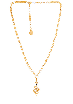 Temple of the Sun Evie Necklace in Metallic Gold.