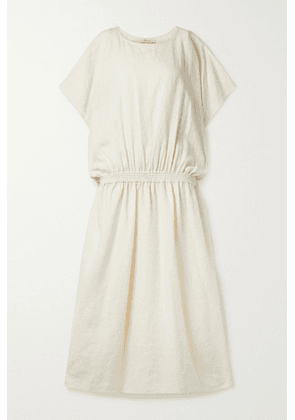Tory Burch - Shirred Linen Maxi Dress - Cream