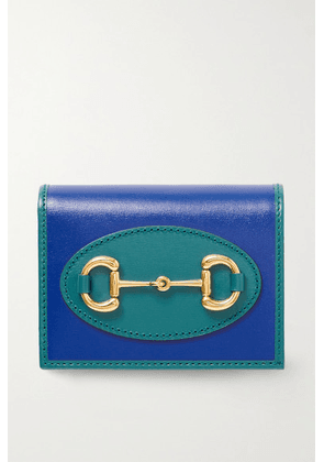 Gucci - 1955 Horsebit Two-tone Leather Wallet - Royal blue