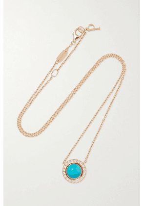 Piaget - Possession 18-karat Rose Gold, Turquoise And Diamond Necklace