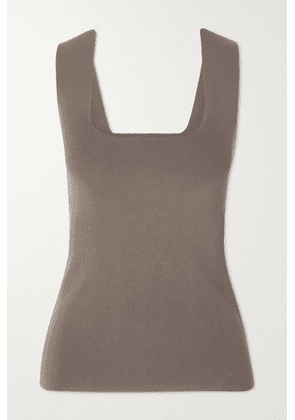 By Malene Birger - Hilah Ribbed-knit Tank - Taupe