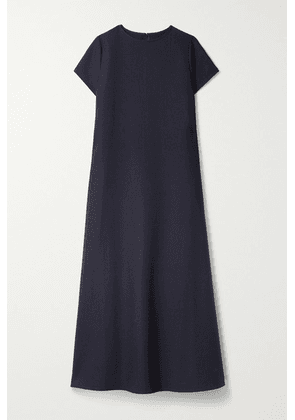 Frankie Shop - Dakota Grain De Poudre Maxi Dress - Navy