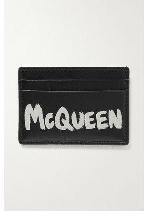 Alexander McQueen - Printed Leather Cardholder - Black