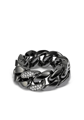 SHAY 18kt black gold chain ring