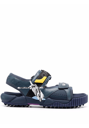 Off-White logo-patch open-toe sandals - Blue