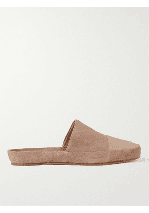 MULO - Leather-Trimmed Suede Slippers - Men - Neutrals - UK 6