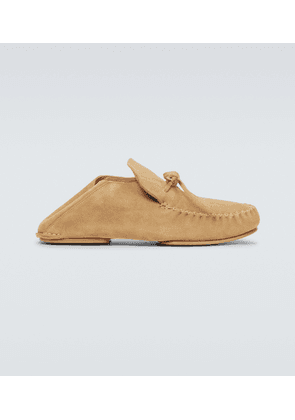 Paula's Ibiza suede loafers