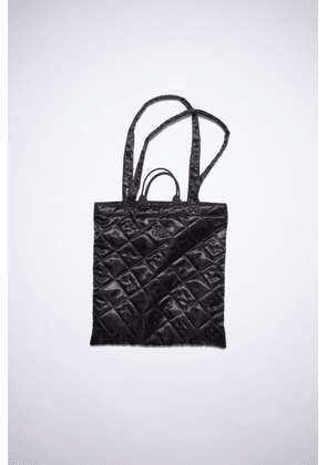 Acne Studios FA-UX-BAGS000022 Black  Shiny quilted tote