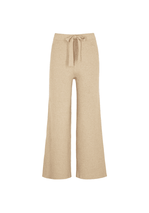 Live The Process Camel Ribbed Cotton-blend Trousers