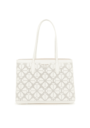 Kate Spade New York All Day Large White Perforated Leather Tote
