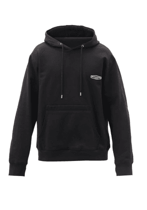 Wooyoungmi - Logo-embroidered Hooded Cotton Sweatshirt - Mens - Black
