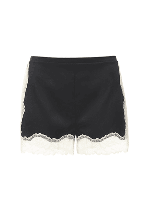 Kitty Silk Satin & Lace Shorts