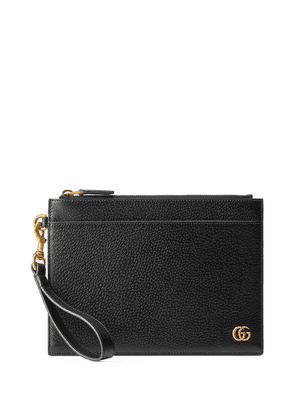 Gucci GG Marmont leather pouch - Black