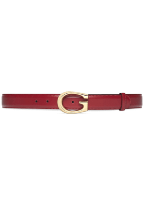 Gucci G-buckle leather belt - Red