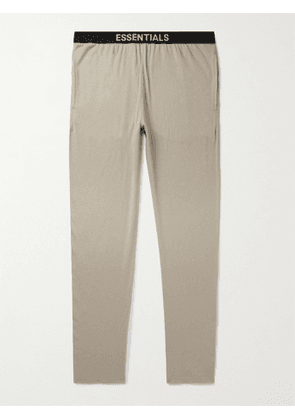 FEAR OF GOD ESSENTIALS - Tapered Cotton-Blend Jersey Sweatpants - Men - Brown - XS