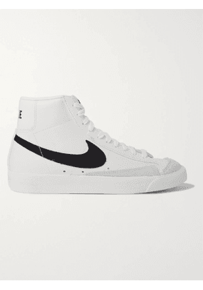 NIKE - Blazer Mid '77 Suede-Trimmed Leather Sneakers - Men - White - 10.5
