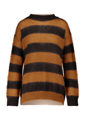 Striped wool and mohair-blend sweater