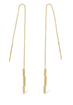 18kt Gold Link To Love Chain Earrings