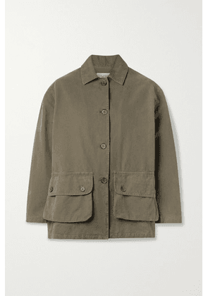 Nili Lotan - Connor Cotton-canvas Jacket - Army green
