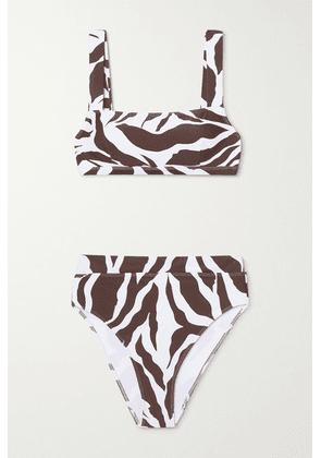 Faithfull The Brand - + Net Sustain Marta Zebra-print Bikini - Brown