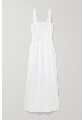 Loretta Caponi - Maddalena Lace-trimmed Broderie Anglaise Cotton-voile Nightdress - White