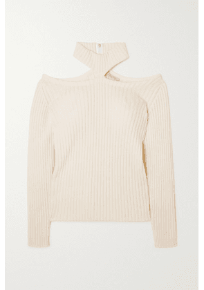 Christopher Kane - Cutout Ribbed Wool Sweater - Ivory