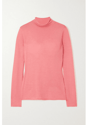 Carolina Herrera - Silk-blend Turtleneck Top - Pink