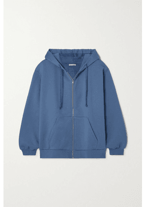Reformation - Paige Organic Cotton-jersey Hoodie - Blue
