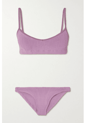 Hunza G - + Net Sustain Virginia Nile Ribbed Bikini - Lavender