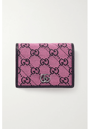 Gucci - Gg Marmont Multicolour Jacquard And Leather Wallet - Pink