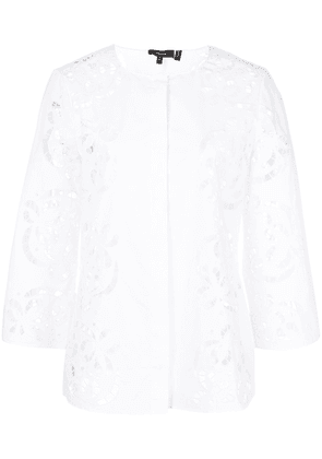 Theory lace-detail blouse - White