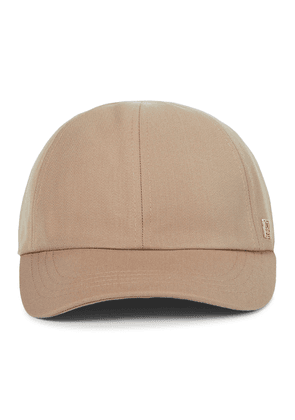 Cotton-blend twill cap
