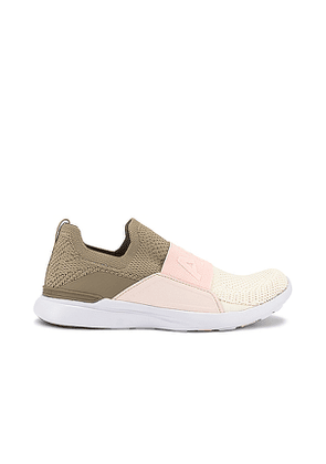APL: Athletic Propulsion Labs TechLoom Bliss Sneaker in Taupe. Size 7.5, 8.5.