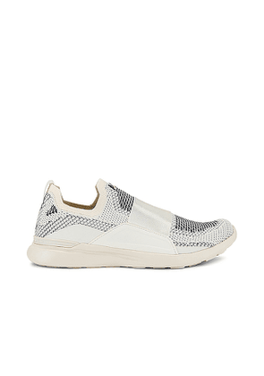 APL: Athletic Propulsion Labs TechLoom Bliss Sneaker in White,Grey. Size 6.5, 7.5, 8, 8.5, 9.