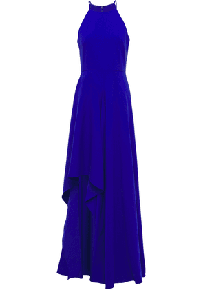 Badgley Mischka Asymmetric Ruffled Crepe Gown Woman Bright blue Size 6