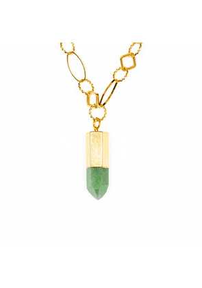 Tiana Jewel Zest For Life Green Quartz Bullet Point Necklace