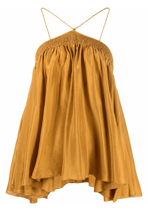 Forte Forte smocked silk blouse - Yellow