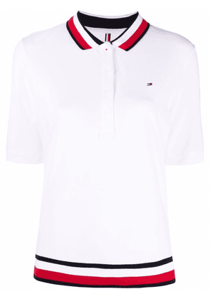 Tommy Hilfiger contrast-trim polo shirt - White