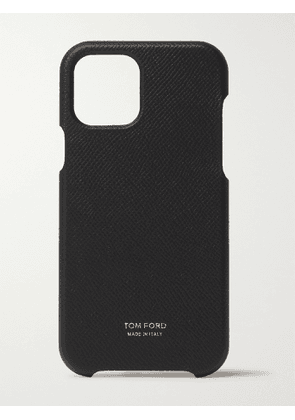 TOM FORD - Full-Grain Leather iPhone 12 Pro Case - Men - Black