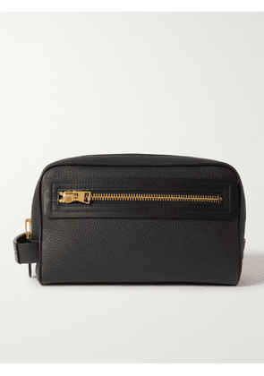 TOM FORD - Full-Grain Leather Wash Bag - Men - Black