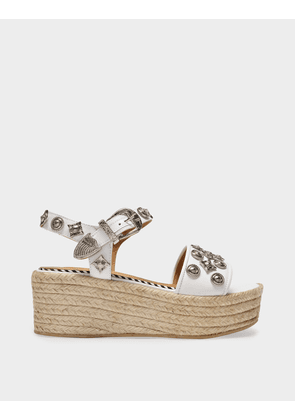 Toga Pulla Sandals in White Leather