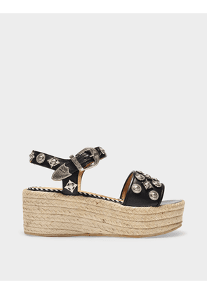 Toga Pulla Sandals in Black Leather